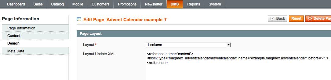 Add Advent Calendar to a Magento site